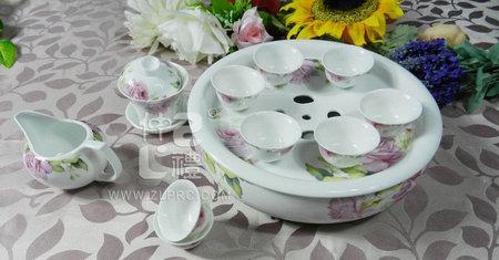 12头盛世玫瑰茶具